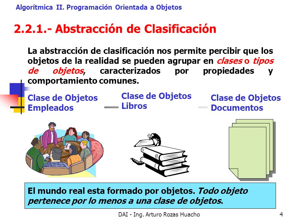 2.2.1.- Abstracción de Clasificación