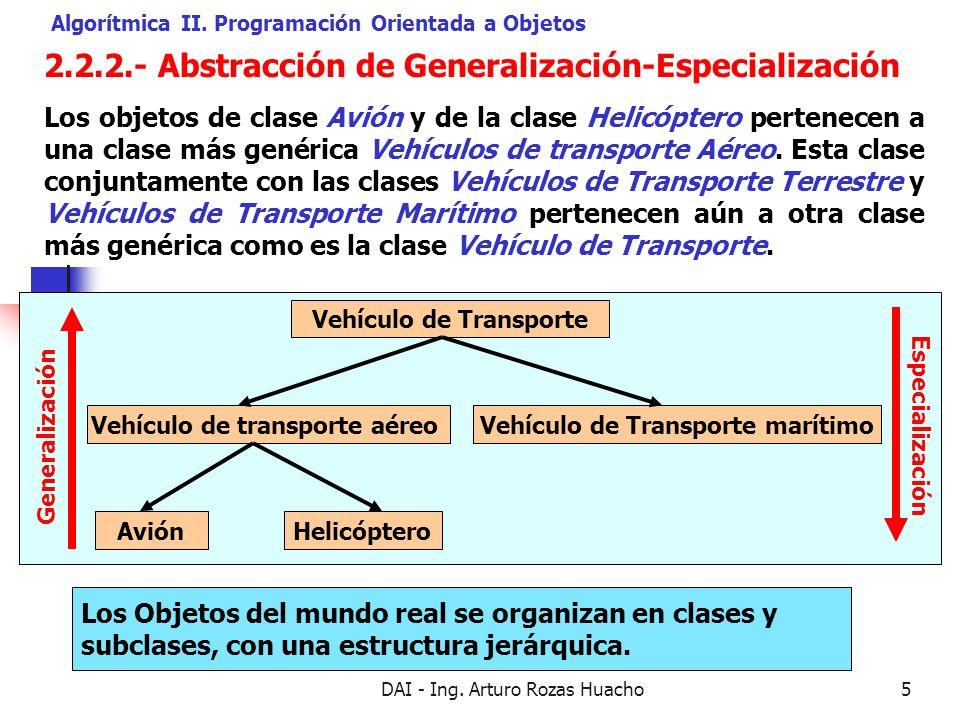 2.2.2.- Abstracción de Generalización-Especialización