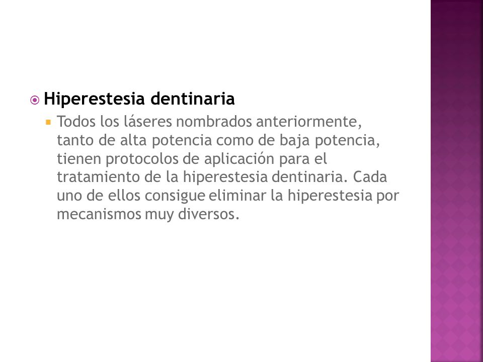 Hiperestesia dentinaria