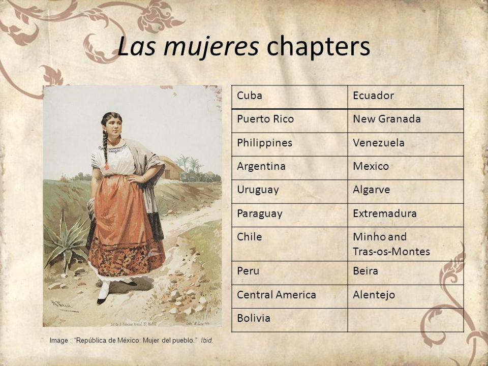Las mujeres chapters Cuba Ecuador Puerto Rico New Granada Philippines