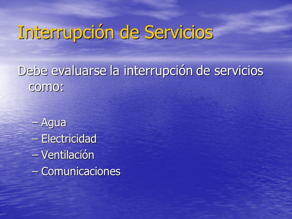 Interrupción de Servicios