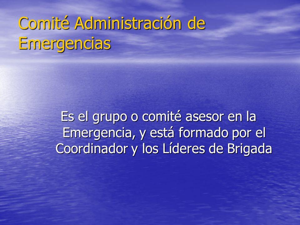 Comité Administración de Emergencias