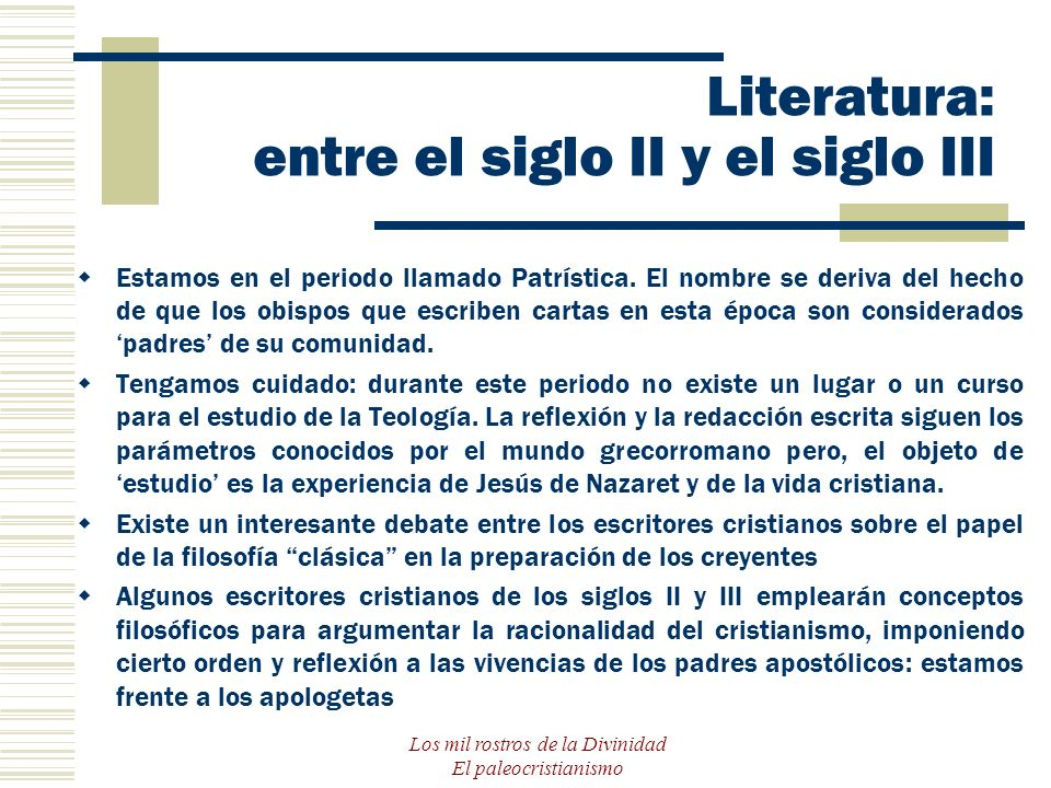 Literatura: entre el siglo II y el siglo III
