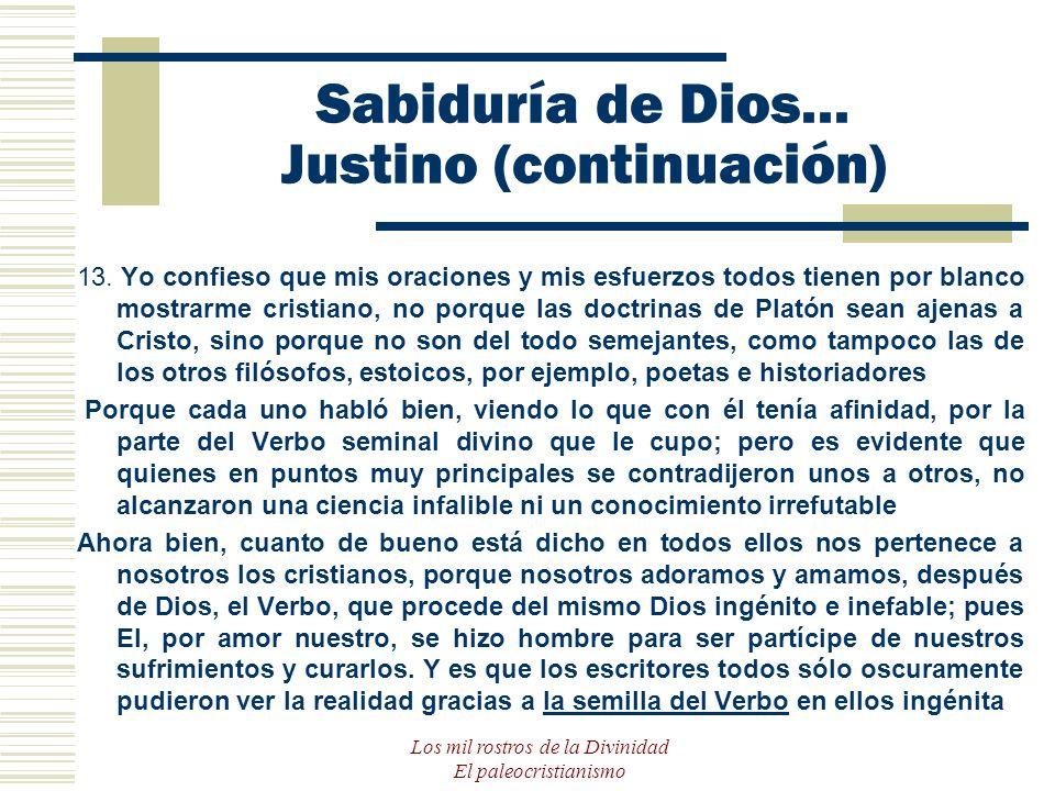 Sabiduría de Dios... Justino (continuación)