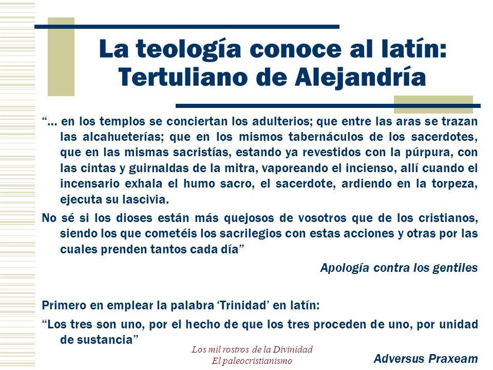 La teología conoce al latín: Tertuliano de Alejandría