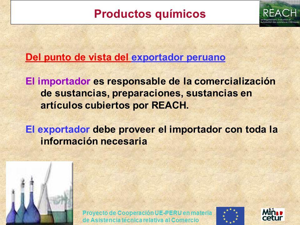 Productos químicos Del punto de vista del exportador peruano