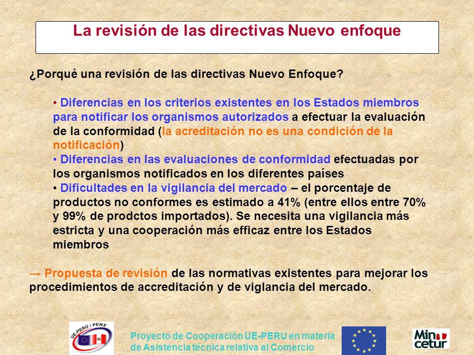 La revisión de las directivas Nuevo enfoque