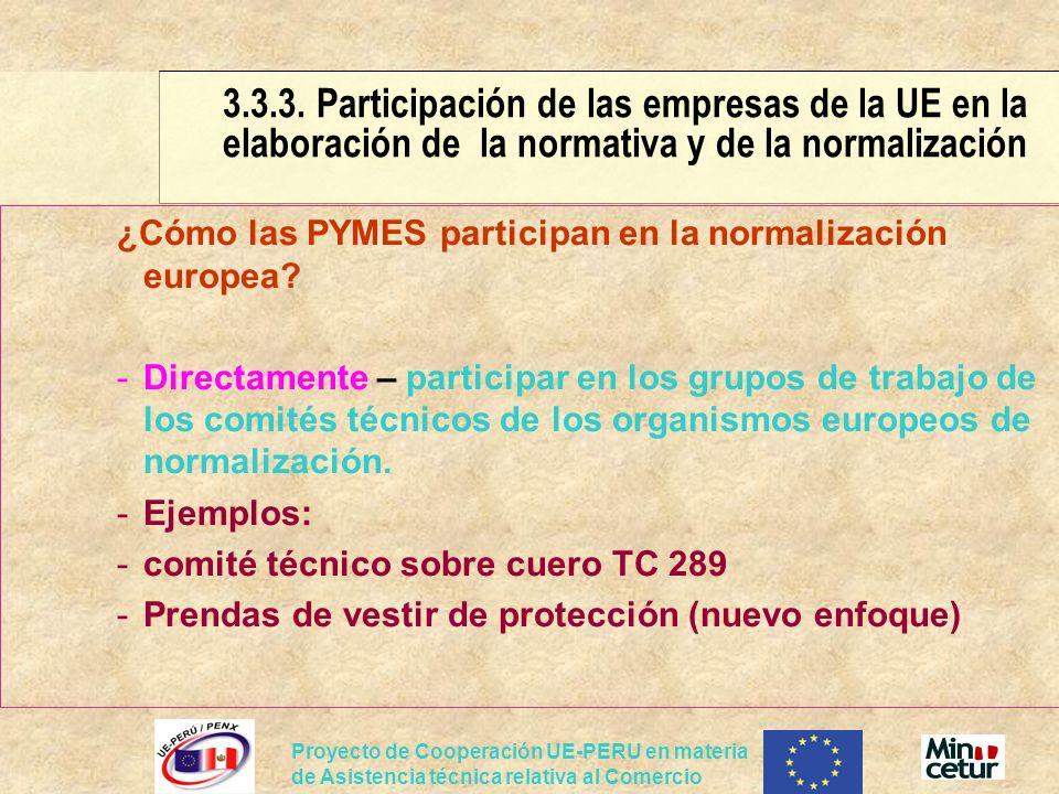 3. 3. 3. Participación de las empresas de la UE en la