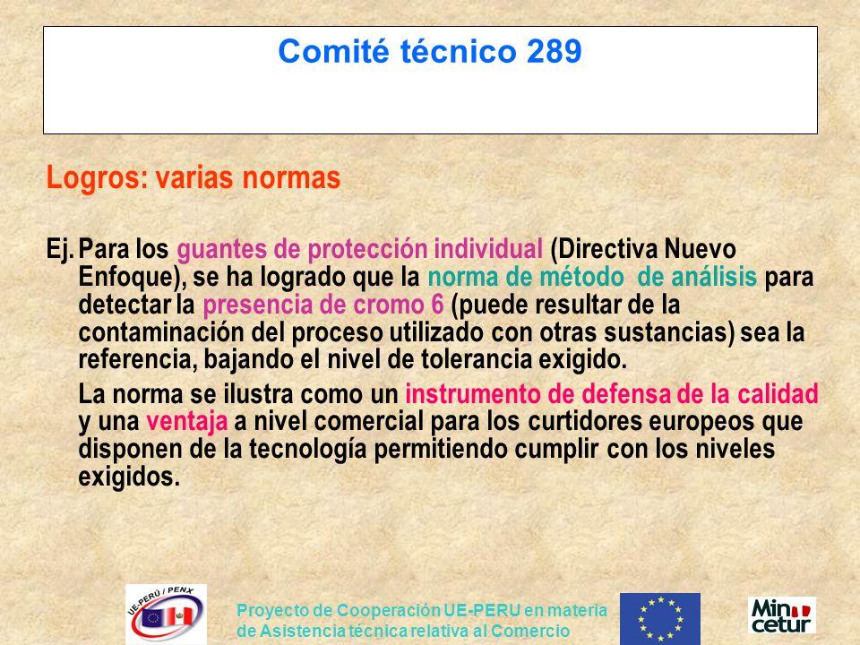 Comité técnico 289 Logros: varias normas