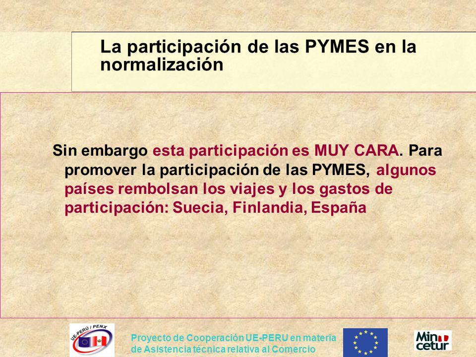 La participación de las PYMES en la normalización