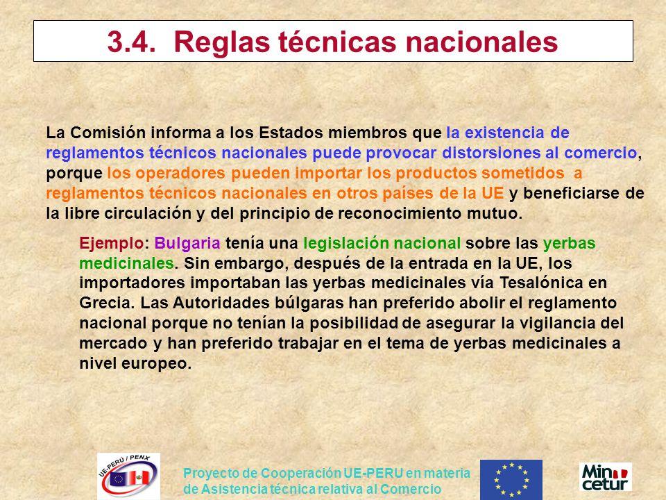 3.4. Reglas técnicas nacionales