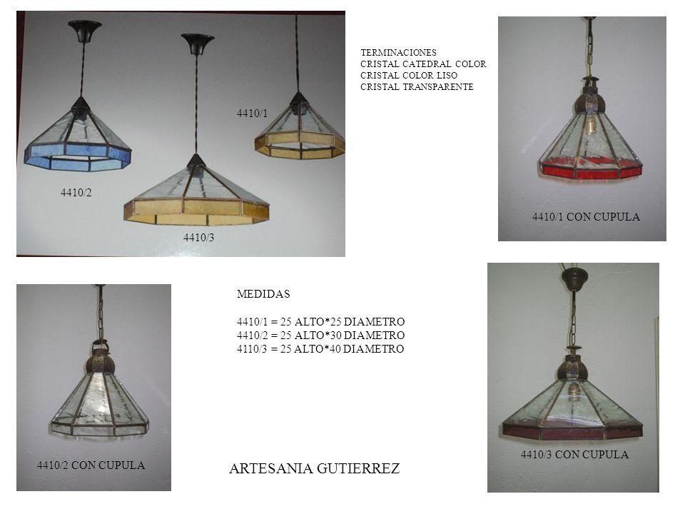 ARTESANIA GUTIERREZ 4410/1 4410/2 4410/1 CON CUPULA 4410/3 MEDIDAS