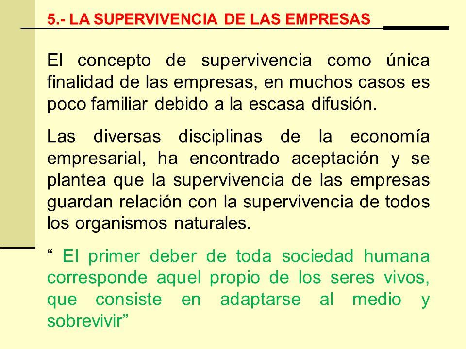 5.- LA SUPERVIVENCIA DE LAS EMPRESAS