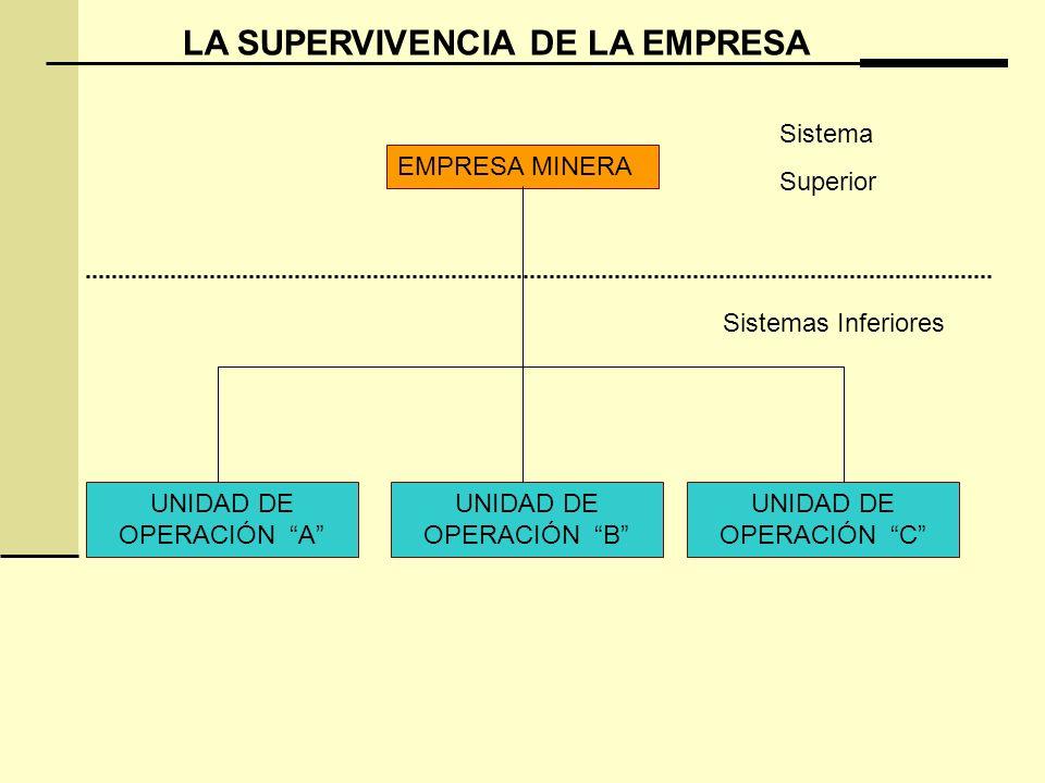 LA SUPERVIVENCIA DE LA EMPRESA