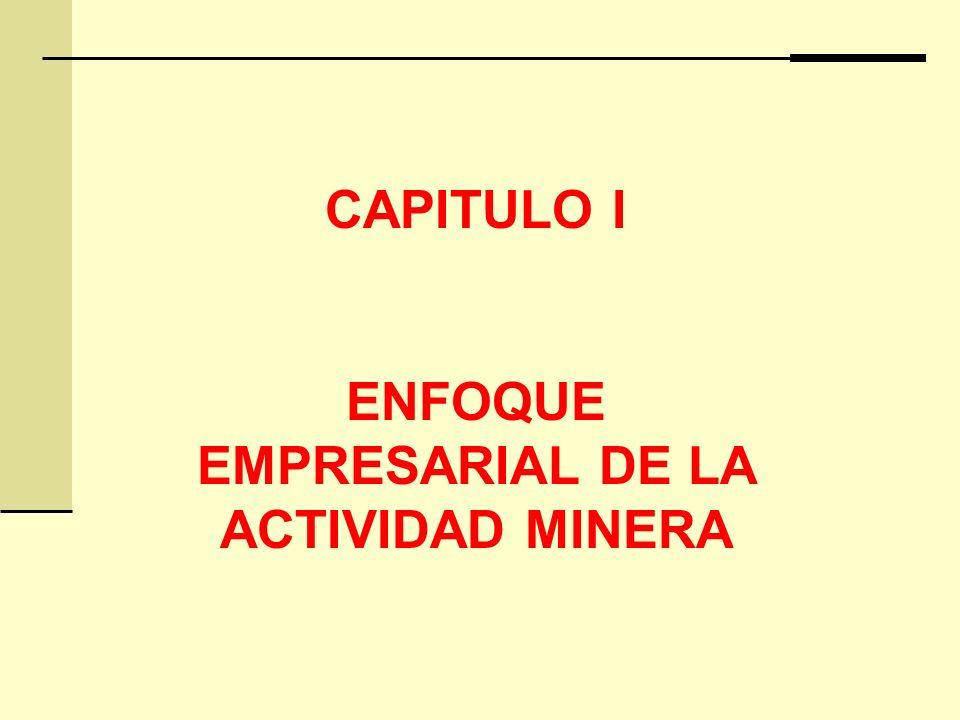 ENFOQUE EMPRESARIAL DE LA ACTIVIDAD MINERA