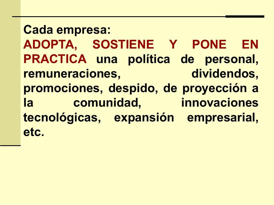 Cada empresa:
