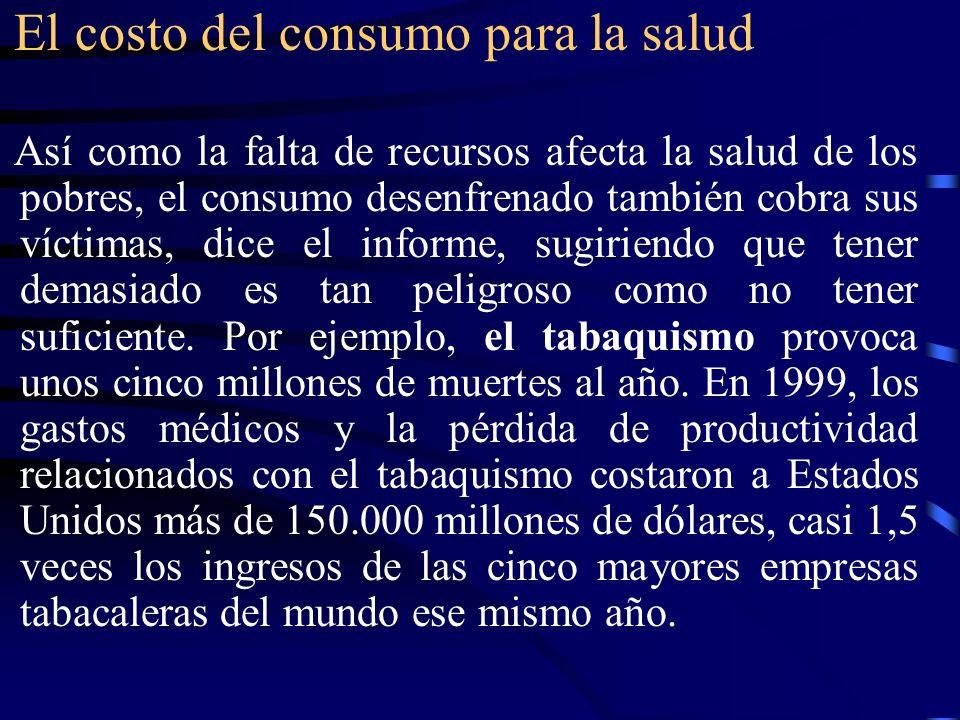 El costo del consumo para la salud