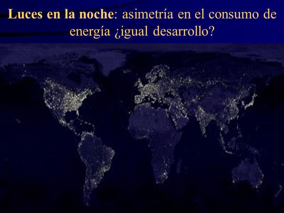 Luces en la noche: asimetría en el consumo de energía ¿igual desarrollo
