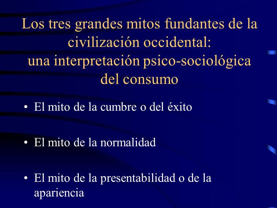 Los tres grandes mitos fundantes de la civilización occidental: una interpretación psico-sociológica del consumo