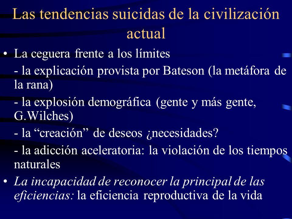 Las tendencias suicidas de la civilización actual