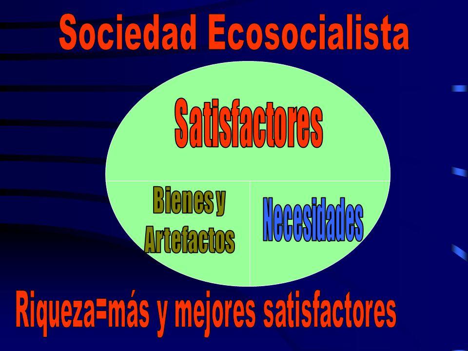 Sociedad Ecosocialista Riqueza=más y mejores satisfactores