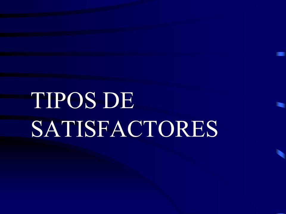 TIPOS DE SATISFACTORES