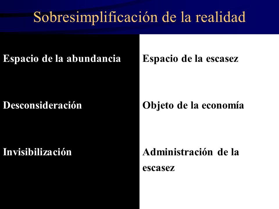 Sobresimplificación de la realidad