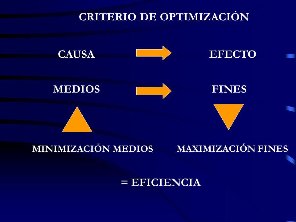 CRITERIO DE OPTIMIZACIÓN