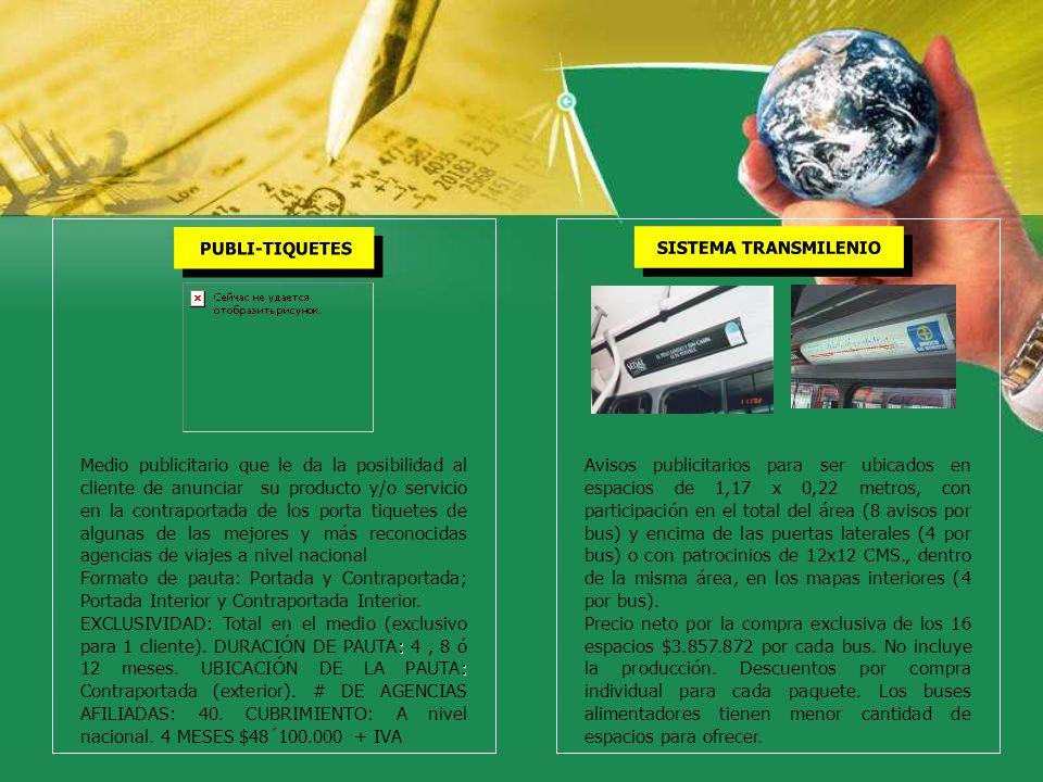 SISTEMA TRANSMILENIO PUBLI-TIQUETES.