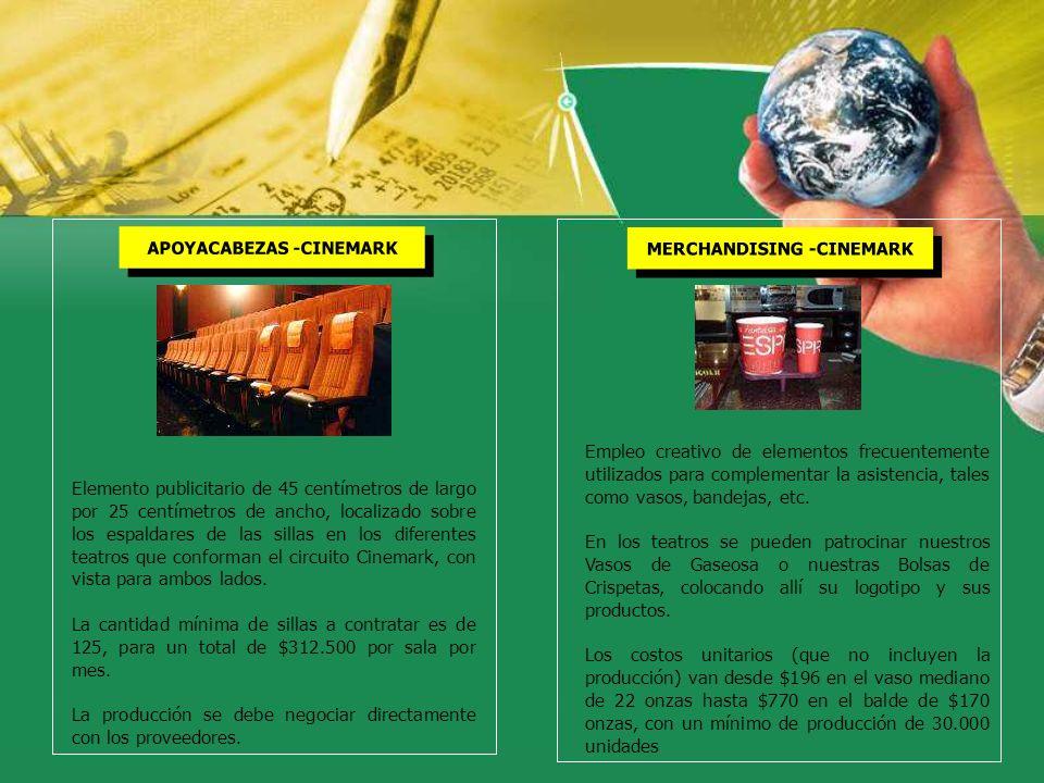APOYACABEZAS -CINEMARK MERCHANDISING -CINEMARK