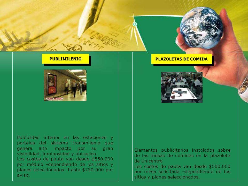 PLAZOLETAS DE COMIDA PUBLIMILENIO.
