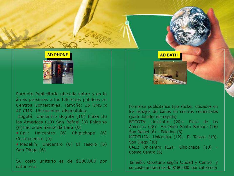 Cali: Unicentro (6) Chipichape (6) Cosmocentro (6)