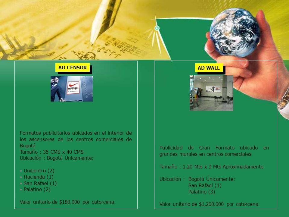 Ubicación : Bogotá Únicamente: Unicentro (2) Hacienda (1)