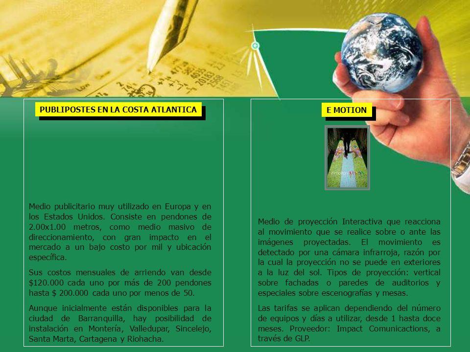 PUBLIPOSTES EN LA COSTA ATLANTICA