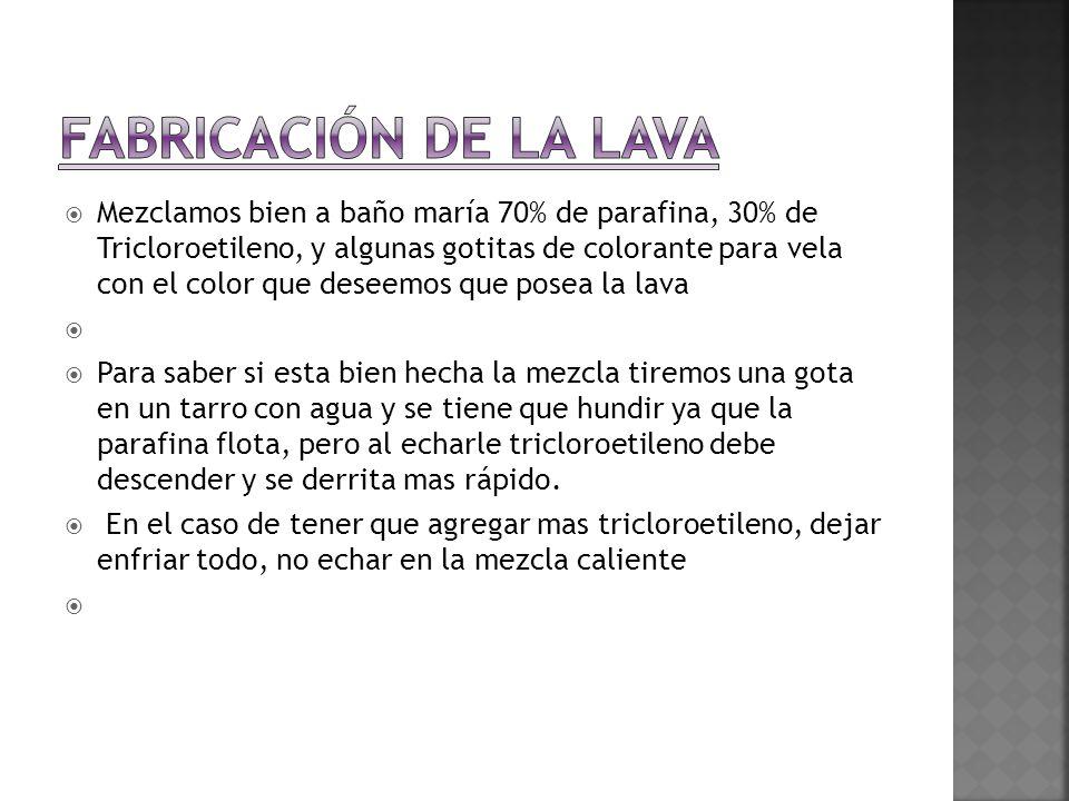 FABRICACIÓN DE LA LAVA