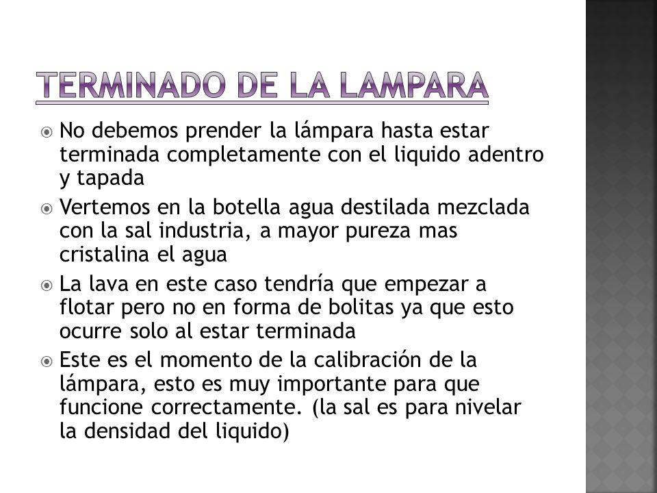TERMINADO DE LA LAMPARA