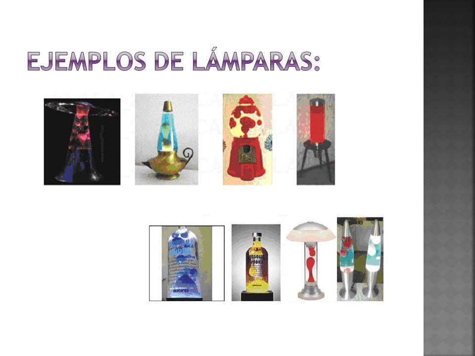 Ejemplos de lámparas: