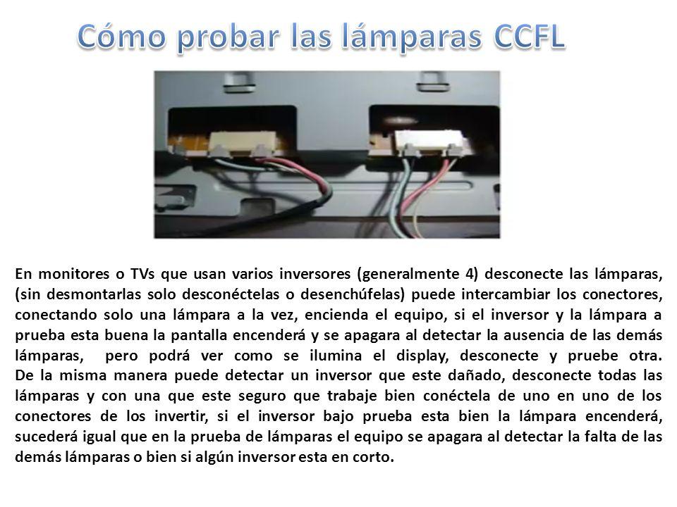 Cómo probar las lámparas CCFL
