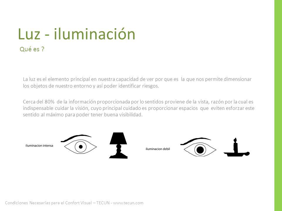 Luz - iluminación Qué es