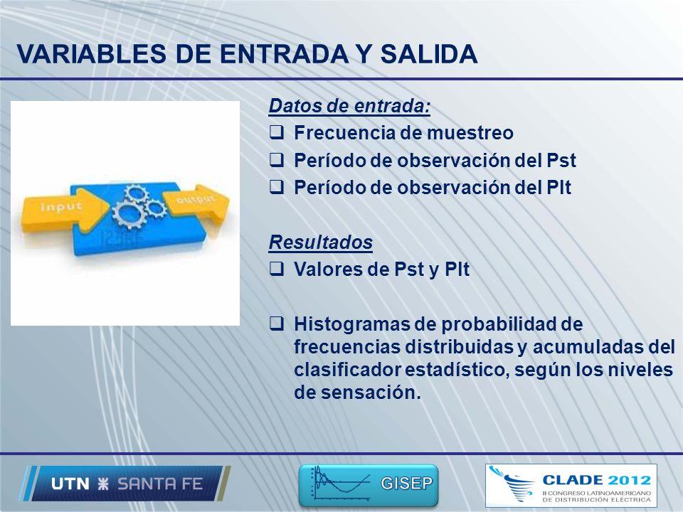 VARIABLES DE ENTRADA Y SALIDA