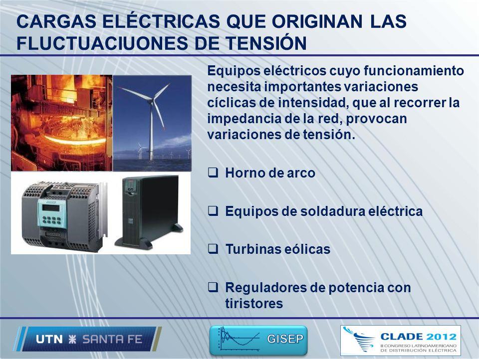 CARGAS ELÉCTRICAS QUE ORIGINAN LAS FLUCTUACIUONES DE TENSIÓN