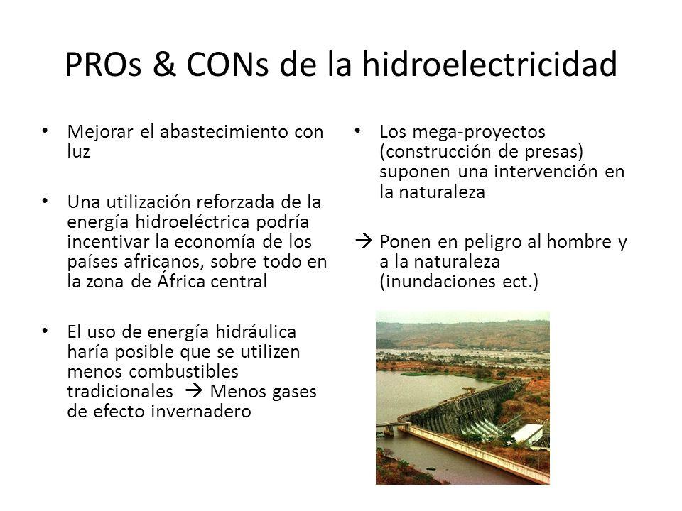 PROs & CONs de la hidroelectricidad