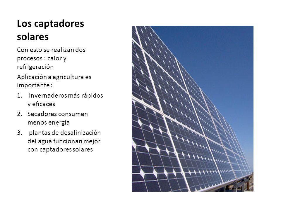 Los captadores solares