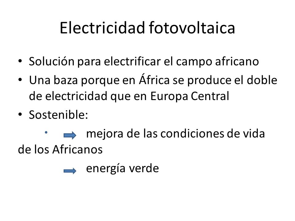 Electricidad fotovoltaica