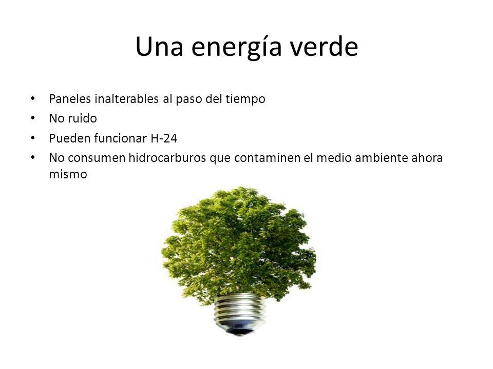 Una energía verde Paneles inalterables al paso del tiempo No ruido