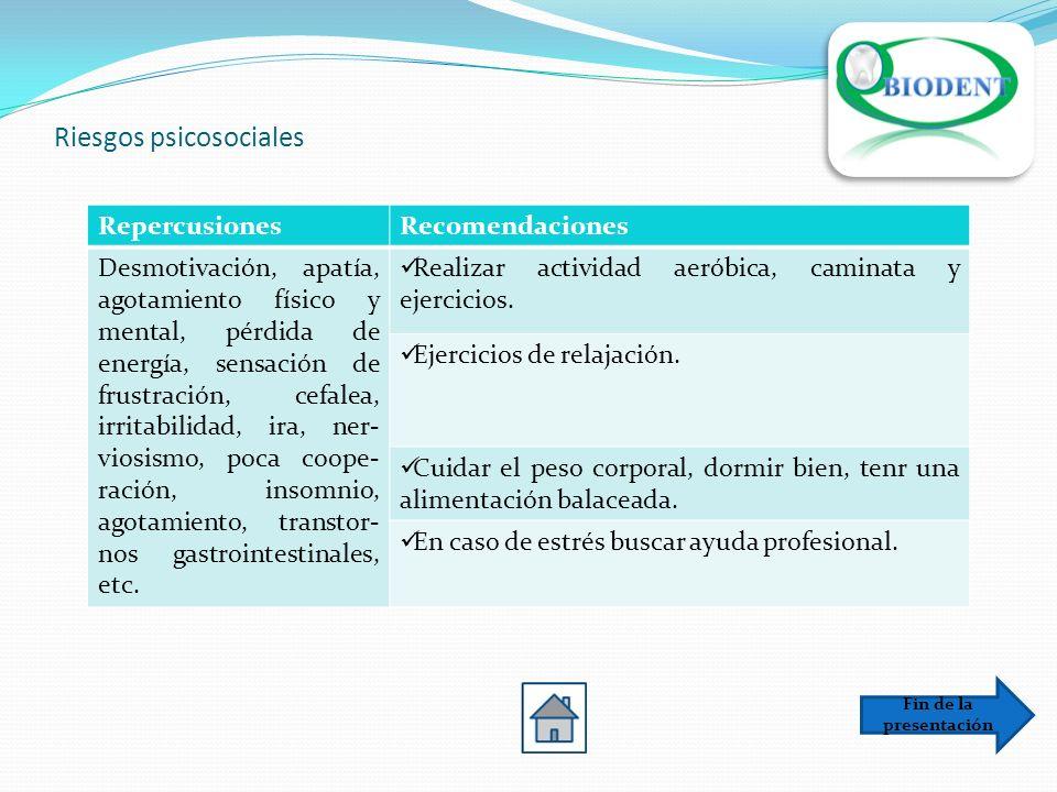 Riesgos psicosociales