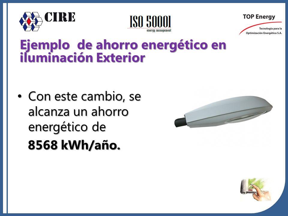 Ejemplo de ahorro energético en iluminación Exterior