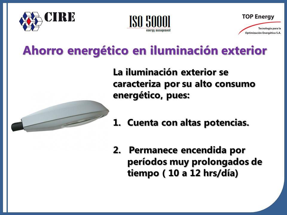 Ahorro energético en iluminación exterior