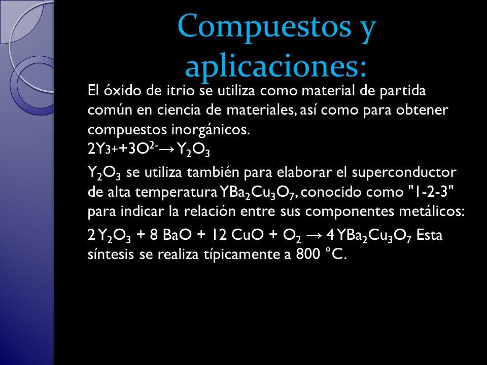 Compuestos y aplicaciones: