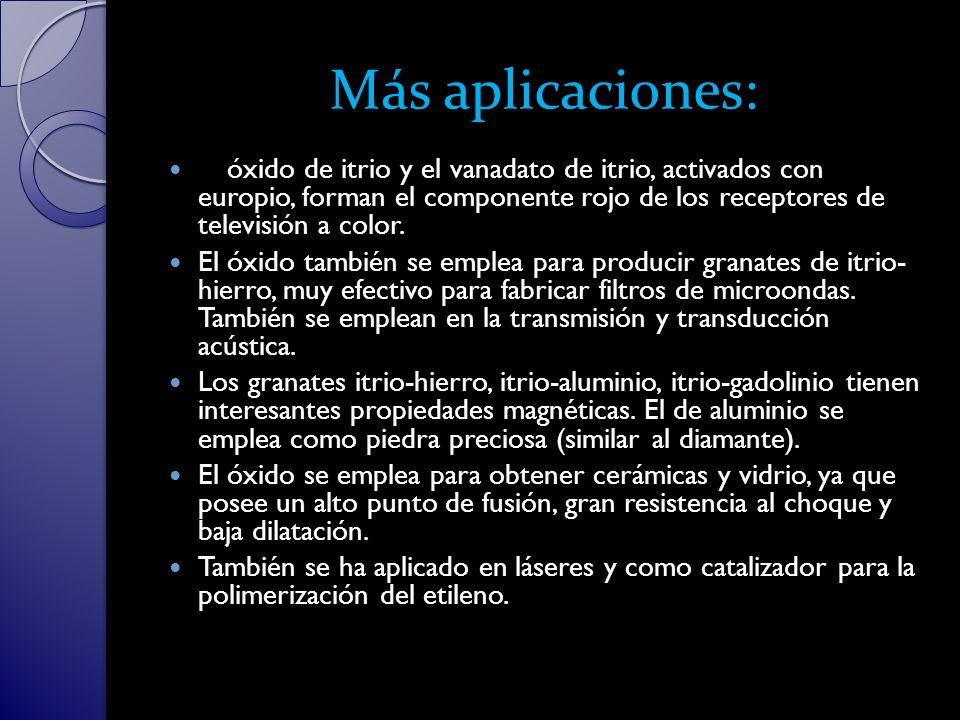 Más aplicaciones:
